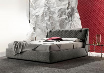 Pouf Contenitore Level Design.Chelsea Upholstered Bed With Custom Made Storage Berto Salotti