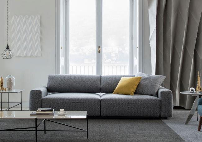 Harley custom made sofa with reclining backrest – Berto Salotti