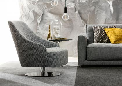 EMILIA SWIVEL ARMCHAIR